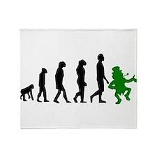 Leprechaun Evolution Throw Blanket