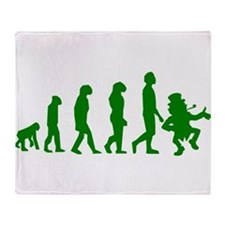 Green Leprechaun Evolution Throw Blanket