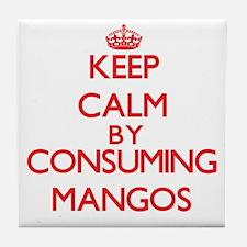 Keep calm by consuming Mangos Tile Coaster