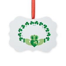 Claddagh Heart Crown Shamrocks Ornament