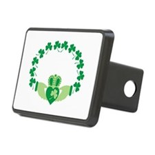 Claddagh Heart Crown Shamrocks Hitch Cover