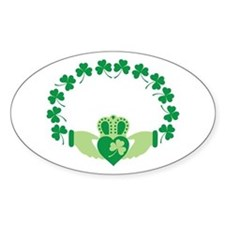 Claddagh Heart Crown Shamrocks Decal