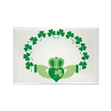 Claddagh Heart Crown Shamrocks Magnets