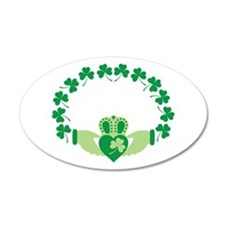 Claddagh Heart Crown Shamrocks Wall Decal