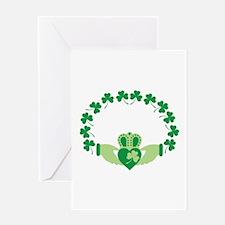 Claddagh Heart Crown Shamrocks Greeting Cards