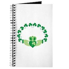 Claddagh Heart Crown Shamrocks Journal