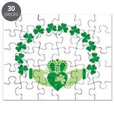 Claddagh Heart Crown Shamrocks Puzzle