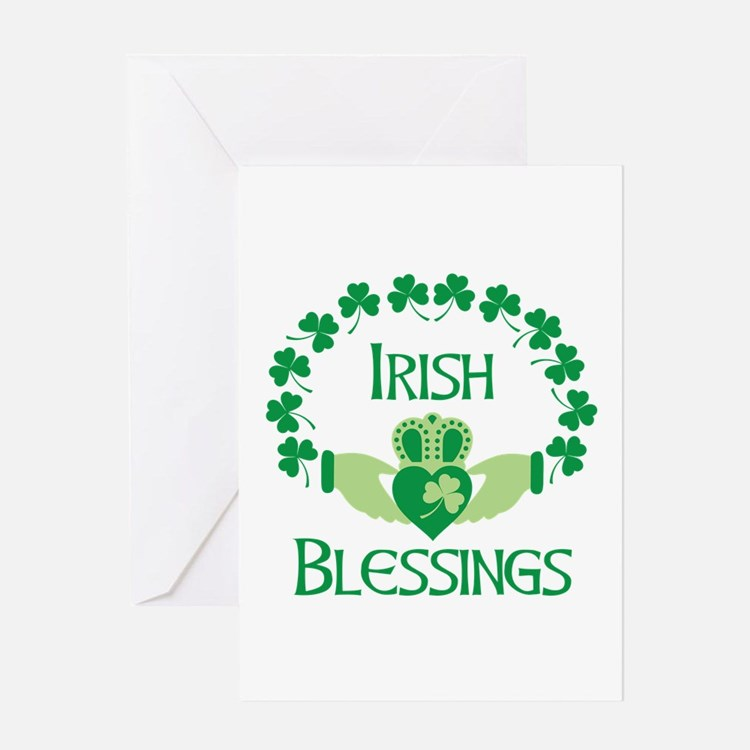 IRISH BLESSINGS Greeting Cards
