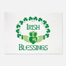 IRISH BLESSINGS 5'x7'Area Rug