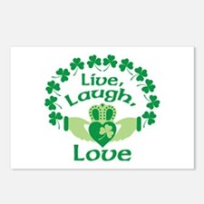 Live, Laugh, Love Postcards (Package of 8)