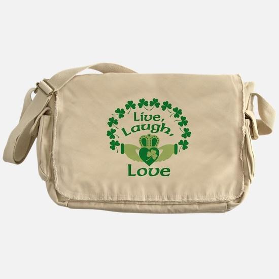 Live, Laugh, Love Messenger Bag