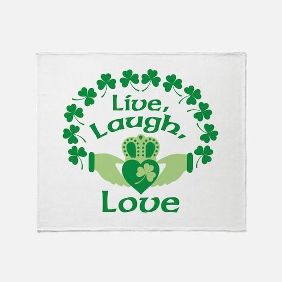 Live, Laugh, Love Throw Blanket