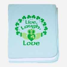 Live, Laugh, Love baby blanket