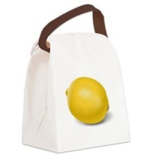 Yellow Lemon Canvas Lunch Bag