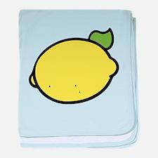 Lemon Drawing baby blanket