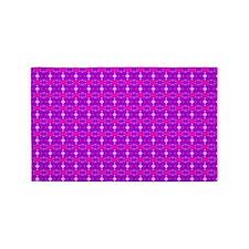 Purple Pink Ornament 3'x5' Area Rug