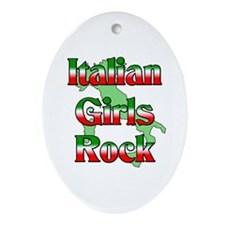 Italian Girls Rock Oval Ornament