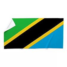 Flag of Tanzania Beach Towel