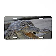 Crocodile Aluminum License Plate