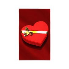 Chocolate Heart Box 3'x5' Area Rug