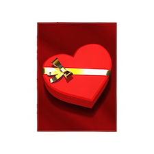 Chocolate Heart Box 5'x7'Area Rug