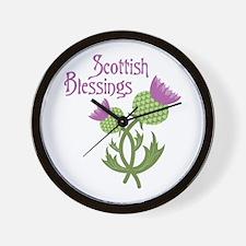 Scottish Blessings Wall Clock
