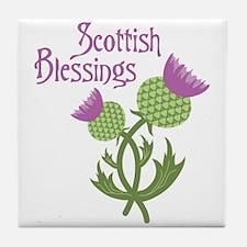 Scottish Blessings Tile Coaster