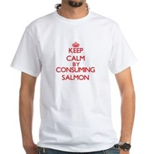 Keep calm by consuming Salmon T-Shirt