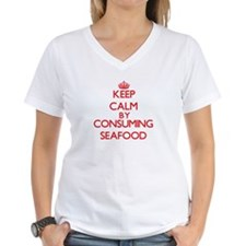 Keep calm by consuming Seafood T-Shirt