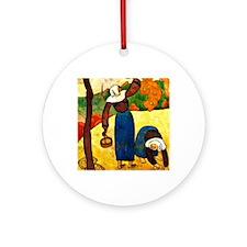 Emile Bernard - Breton Peasants Round Ornament