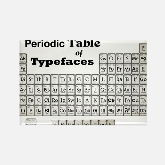 Periodic Table of Typography Magnets