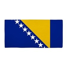Flag of Bosnia Beach Towel