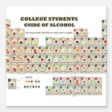 College Students Guide of Alcohol Square Car Magne