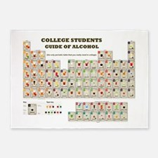 College Students Guide of Alcohol 5'x7'Area Rug