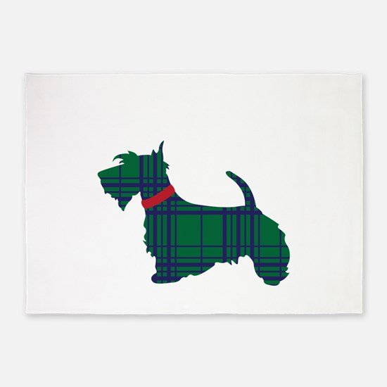 Scottish Terrier Dog 5'x7'Area Rug