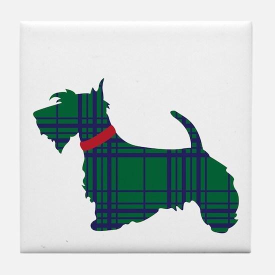 Scottish Terrier Dog Tile Coaster