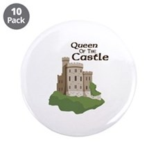 """Queen OF THE Castle 3.5"""" Button (10 pack)"""
