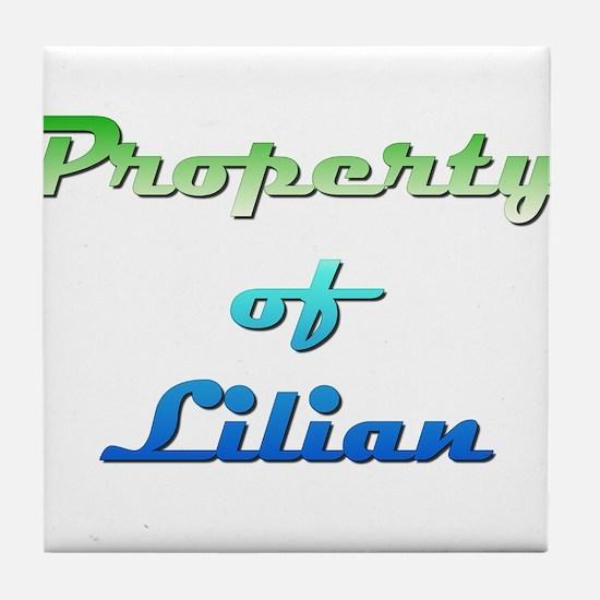 Property Of Lilian Female Tile Coaster