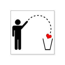 Throw Away Heart Sticker