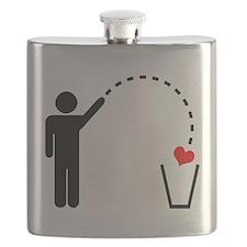 Throw Away Heart Flask