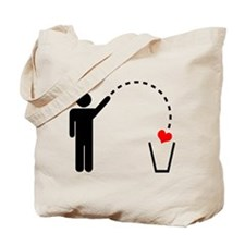 Throw Away Heart Tote Bag