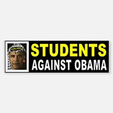 OBAMA STUDENTS BUMPER_001 Bumper Bumper Bumper Sticker