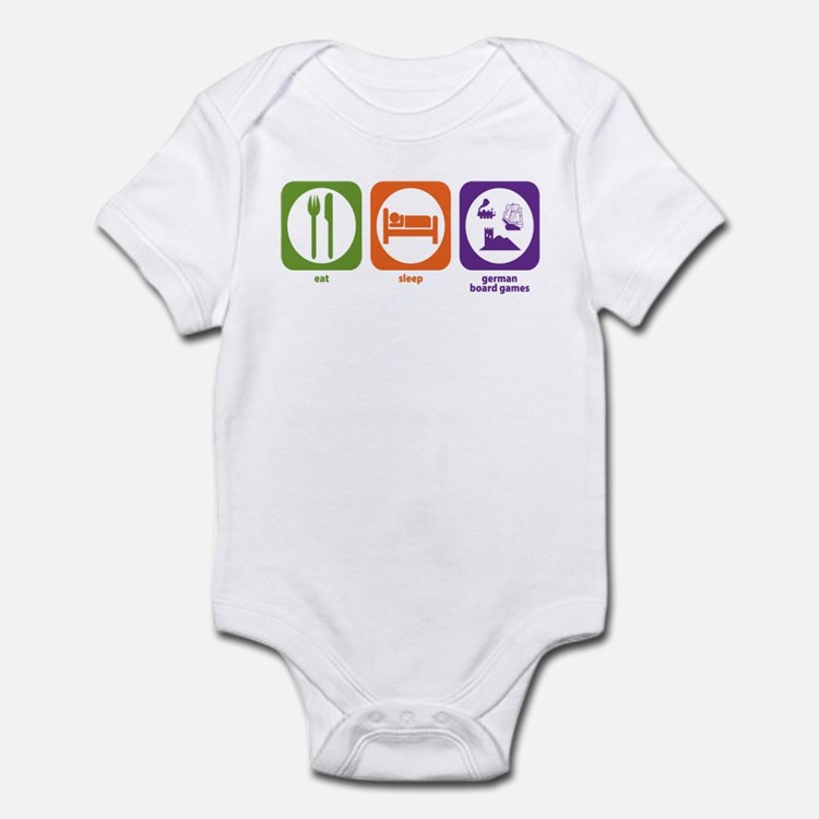 Eat Sleep German Board Games Infant Bodysuit
