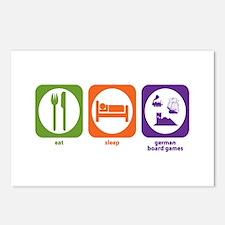 Eat Sleep German Board Games Postcards (Package of