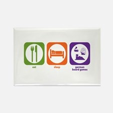 Eat Sleep German Board Games Rectangle Magnet