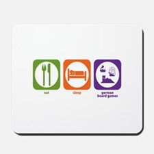 Eat Sleep German Board Games Mousepad