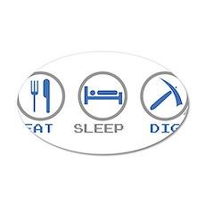 Eat Sleep Dig Wall Decal
