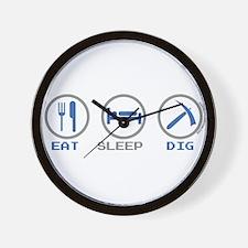 Eat Sleep Dig Wall Clock