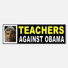 OBAMA TEACHERS BUMPER_001 Bumper Bumper Bumper Sticker
