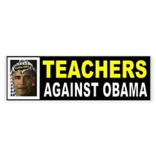 OBAMA TEACHERS BUMPER_001 Bumper Bumper Sticker